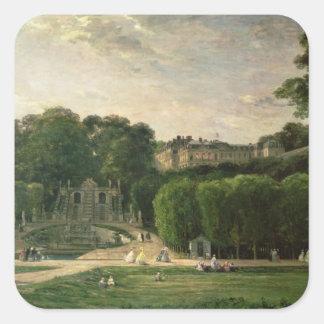 El parque en la nube del St., 1865 Pegatina Cuadrada