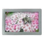 El parque florece arte floral de la diversión de l hebillas cinturon rectangulares