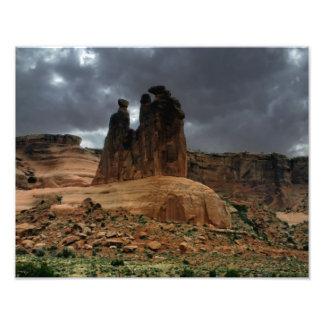 El parque nacional de tres arcos de los chismes cojinete