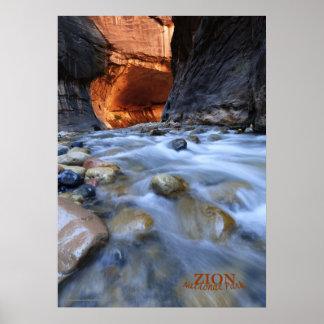 """El parque nacional de Zion estrecha el poster 20"""""""