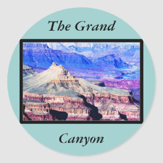 El parque nacional del Gran Cañón Etiqueta Redonda