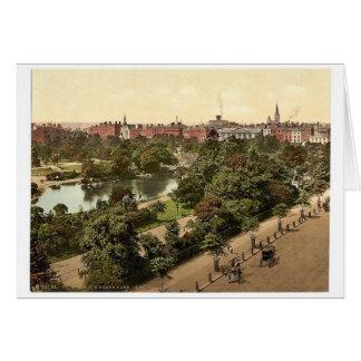 El parque verde de St Stephen. Dublín. Co. Dublín, Tarjeta
