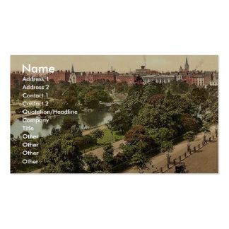 El parque verde de St Stephen. Dublín. Co. Dublín, Plantilla De Tarjeta Personal