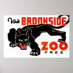 El parque zoológico de Brookside de la visita Posters