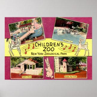 El parque zoológico de los niños, parque zoológico póster