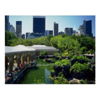 El parque zoológico en Central Park, Nueva York, l Tarjeta Postal