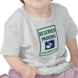 El parquear de los baterías camisetas