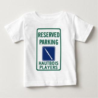 El parquear de los jugadores de Hautbois Playera De Bebé
