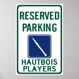 El parquear de los jugadores de Hautbois Impresiones