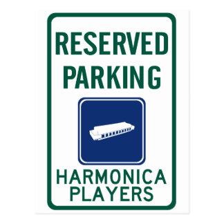 El parquear de los jugadores de la armónica tarjetas postales
