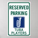 El parquear de los jugadores de la tuba poster