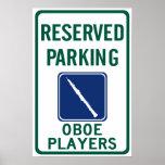 El parquear de los jugadores de Oboe Poster
