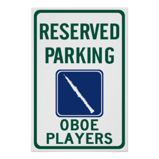 El parquear de los jugadores de Oboe Póster