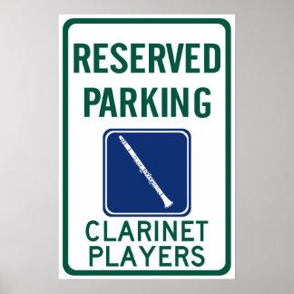 El parquear de los jugadores del Clarinet Poster