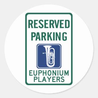 El parquear de los jugadores del Euphonium Pegatina Redonda