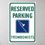 El parquear de los trombones impresiones