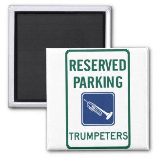 El parquear de los trompetistas imán de frigorifico
