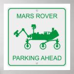 El parquear de Marte Rover Posters