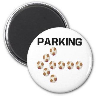 El parquear imán redondo 5 cm