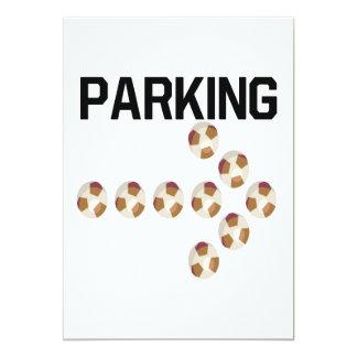 """El parquear invitación 5"""" x 7"""""""