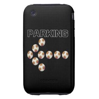 El parquear iPhone 3 tough fundas