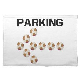 El parquear mantel individual