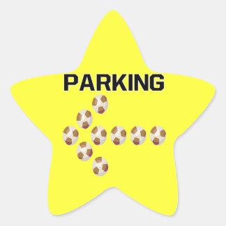 El parquear pegatina en forma de estrella