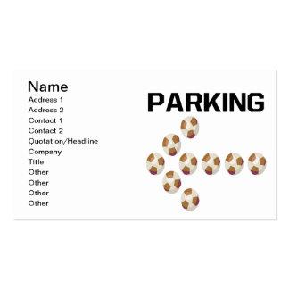 El parquear tarjetas de visita
