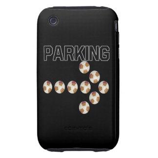 El parquear tough iPhone 3 carcasas