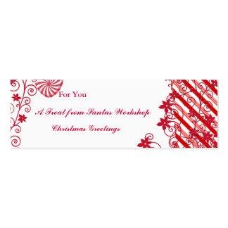El parte movible de la etiqueta del regalo para tarjetas de visita mini