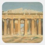 El Parthenon, Atenas, 1810-37 Colcomanias Cuadradas Personalizadas