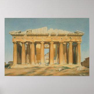 El Parthenon, Atenas, 1810-37 Póster