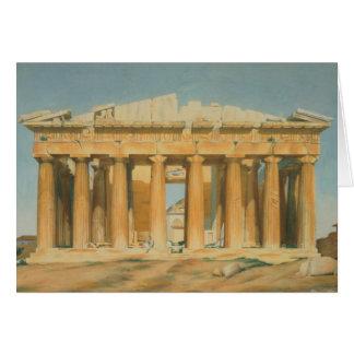 El Parthenon, Atenas, 1810-37 Tarjeta De Felicitación