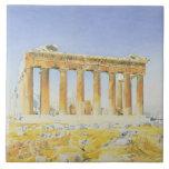 El Parthenon, c.1834 (w/c sobre el lápiz en el pap Teja Cerámica