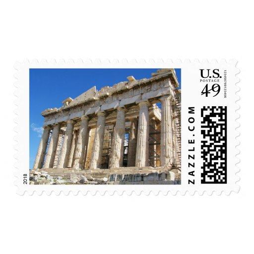 El Parthenon en la acrópolis 447 A.C. Franqueo