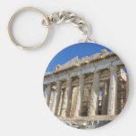 El Parthenon en la acrópolis 447 A.C. Llavero Redondo Tipo Pin