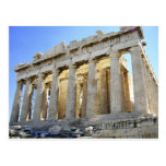 El Parthenon en la acrópolis Postal