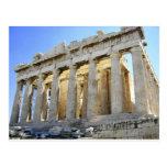 El Parthenon en la acrópolis Tarjeta Postal