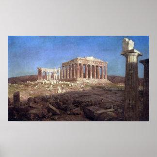 El Parthenon por la iglesia de Federico Edwin Posters