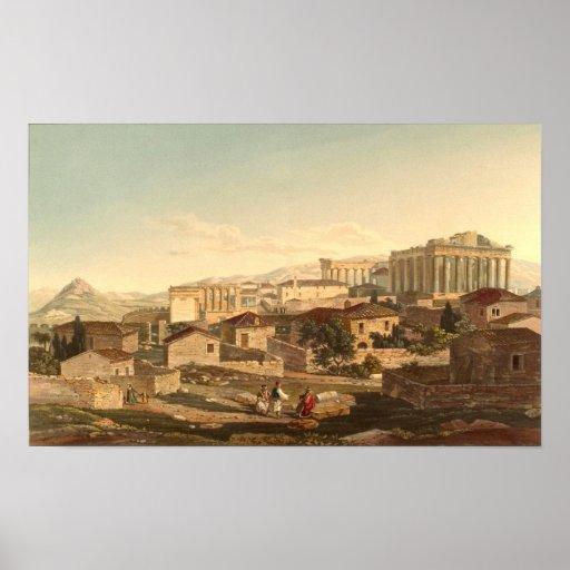 El Parthenon Póster