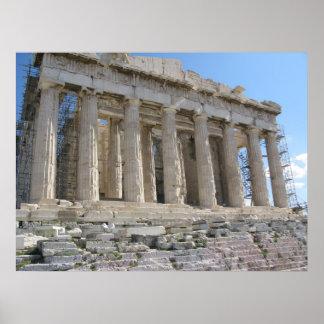 El Parthenon - siglo V A.C. Poster