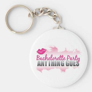 ¡El partido cualquier cosa de Bachelorette va! Llavero Personalizado