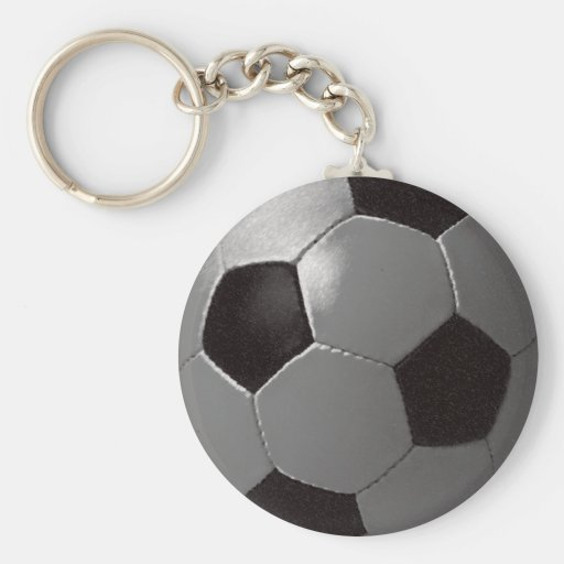 El partido de fútbol llavero redondo tipo pin
