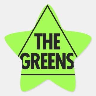 El Partido Verde: Australia 2013 Pegatina En Forma De Estrella