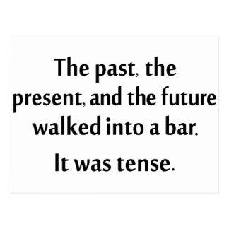 El pasado, el presente, y el futuro caminaron en postales