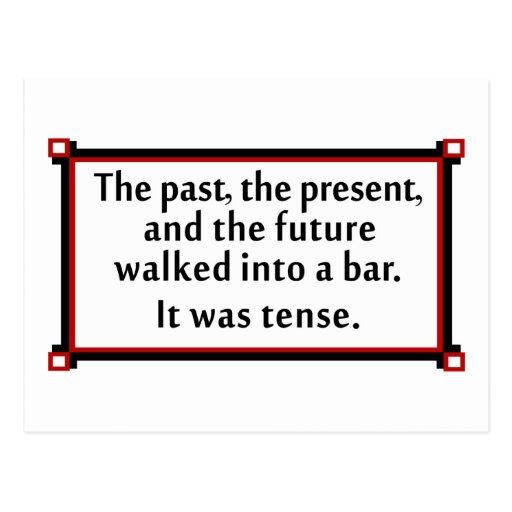 El pasado, el presente, y el futuro postales