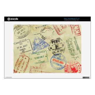 El pasaporte sella la piel - Acer Chromebook Calcomanía Para Acer Chromebook