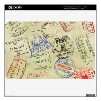 El pasaporte sella la piel - aire de MacBook MacBook Calcomanía