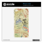 El pasaporte sella la piel - iPhones iPhone 4 Calcomanías