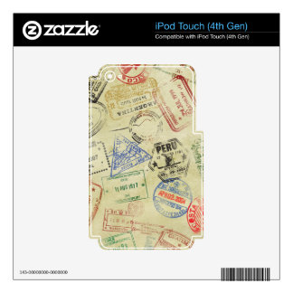 El pasaporte sella la piel - iPod iPod Touch 4G Skin
